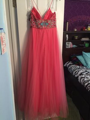 Pink Formal dress, size 10 with tags Coral Prom Dress for Sale in Woodbridge, VA