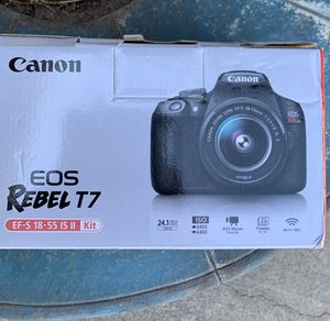 Canon EOS Rebel T7 $700 obo for Sale in Citrus Heights, CA