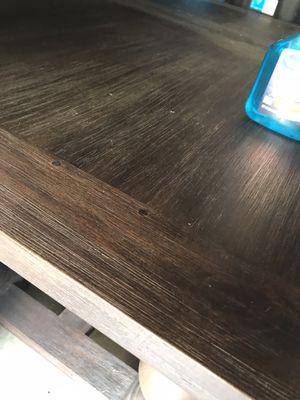 restoration hardware table 60x36 700 bucks coffee finish for Sale in Los Alamitos, CA