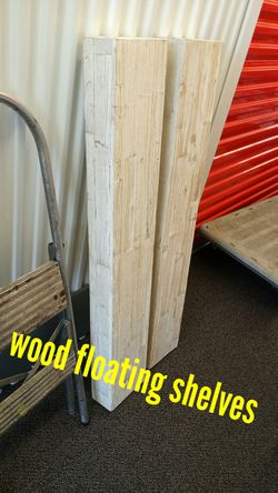 Wood floating wall shelves for Sale in Tacoma,  WA