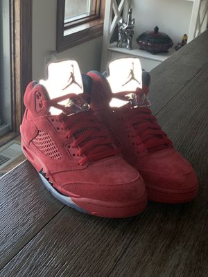 Jordan 5 Red Suede for Sale in New Hradec, ND