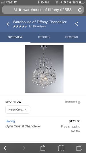Tiffany chandelier for Sale in West Sacramento, CA