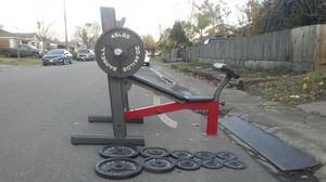 Olympic Bench-Barbell- Weight set for Sale in Stockton, CA
