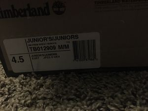 Timberlands / 4.5 juniors for Sale in Victoria, TX