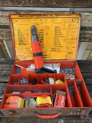 HILTI DX 400 Piston Drive Powder Actuated concrete Nail Gun nailer for Sale in Westminster, MD