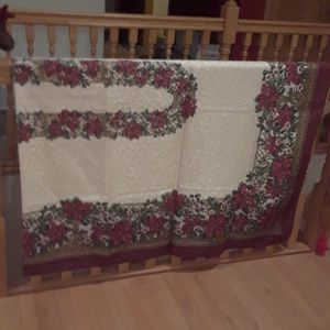 Christmas Linen Tableclothes, Napkins, Candle Holder for Sale in Nevis, MN