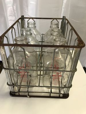 Antique bottles in crate for Sale in FL, US