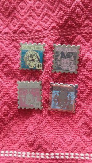 Disney pin lot of four stamps including mickey mouse for Sale in Oviedo, FL