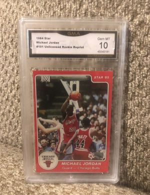 1984 star Michael Jordan rookie reprint graded 10 for Sale in Cranberry Township, PA