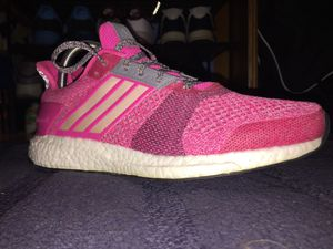 Adidas Women's Ultra Boost St Running Shoes, AF6525, Shock Pink, US Size 9 for Sale in Milwaukie, OR
