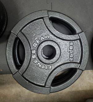 PAIR OF 25lbs OLYMPIC WEIGHTS for Sale in Ashburn, VA