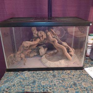 reptile terrarium with heat lamp for Sale in Santa Ana, CA