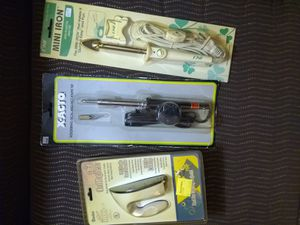 Dremels, small irons, xacto hot knife and soldering pen for Sale in Hoffman Estates, IL