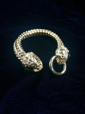 LION DOUBLE FRANCO BRACELET 18K GOLD MADE IN ITALY for Sale in Beverly Hills, CA