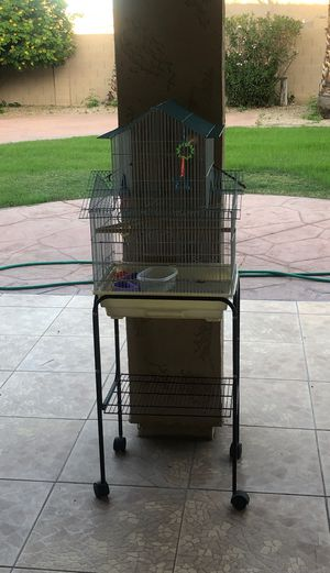 BIRD CAGE (Food holders,swings, and rollers included) in very good conditions. for Sale in Phoenix, AZ