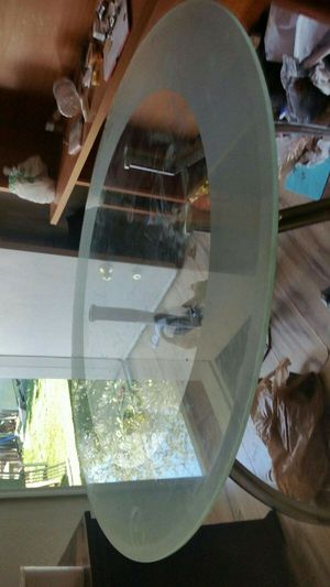 Glass and Frosted Glass Round breakfast table for Sale in Glendale, AZ