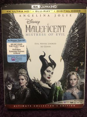 Disney's Maleficent 4K Ultra HD, Blu Ray, & Digital Code for Sale in Hacienda Heights, CA