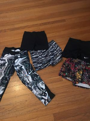 Workout clothes, 4 shorts, 1 pants, Nike & Reebok for Sale in Portland, OR