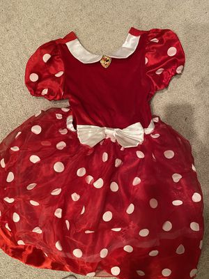 Minnie dress up outfit for girls size medium for Sale in Rancho Cucamonga, CA