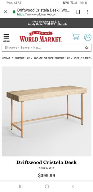 Driftwood office desk like new! for Sale in Miami Beach, FL