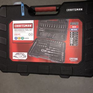 Craftsman Mechanics Tool Set - 230 Pc for Sale in Newark, NJ