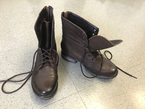 Steve Madden Troopa Combat Brown Leather Boots women's size 8.5 NEW UNWORN for Sale in New York, NY