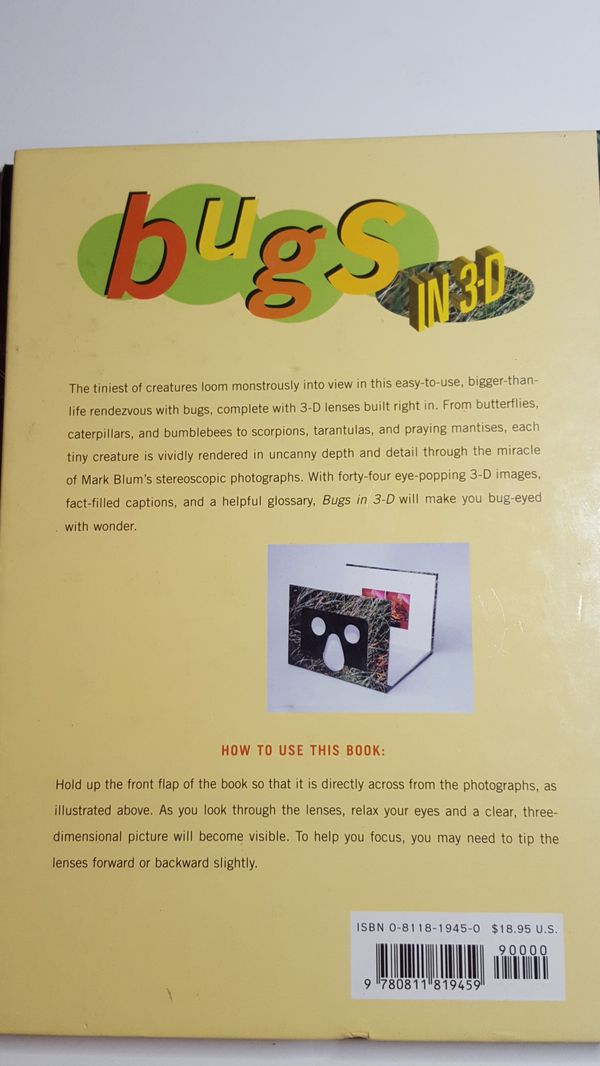 BUGS in 3D - Amazing Book!!