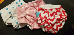 Lot of three cloth diapers. Insert style. Clean good condition. for Sale in Newport News, VA