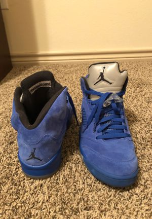 Jordan 5 retro Blue suede for Sale in Euless, TX
