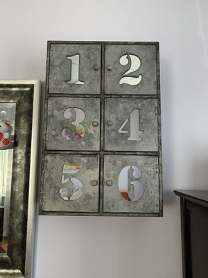 Metal funky make up mirror wall storage for Sale in Queens, NY