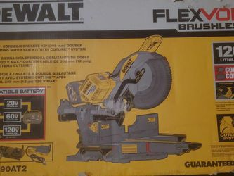 FLEXVOLT 120-Volt MAX Cordless Brushless 12 in. Miter Saw with AC Adapter for Sale in Florissant,  MO