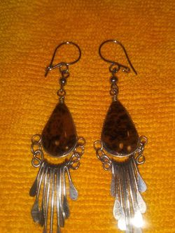 Dangle Earrings With Brown Natural Stone Jasper for Sale in Fullerton,  CA