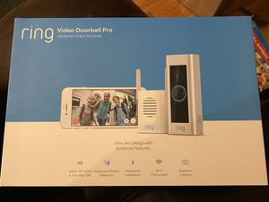 Ring Door Bell Pro with Chime Hiredwired Brand New Sealed Pack for Sale in Boyds, MD