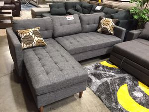 Stylish 2 PC Sectional Sofa, Grey for Sale in Downey, CA