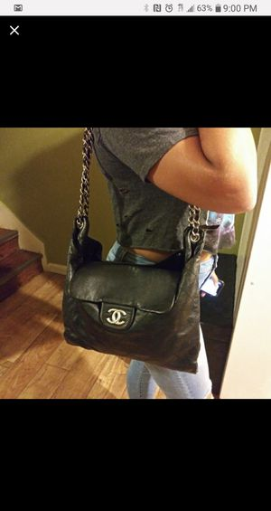 Chanel leather flap bag for Sale in York, PA