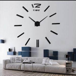 LARGEST SIZE MODERN DIY MIRROR WALL STICKERS CLOCK for Sale in Houston, TX