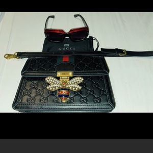 shoulder bag and sunglasses/gucci/ for Sale in Aurora, CO