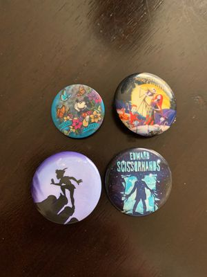 Disney Pin back buttons for Sale in Glendale, AZ