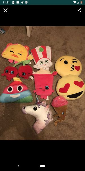 Shopkins/emoji pillows for Sale in Queen Creek, AZ