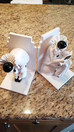 Vintage TasteSetter Sigma Harlequin Clown Bookends for Sale in Lake Forest, CA