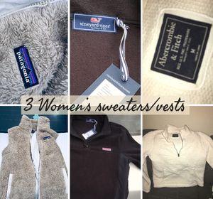 3 WOMEN'S SWEATERS/VESTS for Sale in Boston, MA