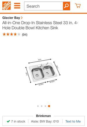 Glacier Bay Stainless Steel Kitchen Sink for Sale in Houston, TX