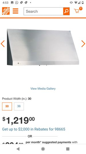 New, never installed range hood for Sale in Battle Ground, WA