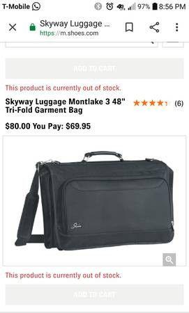 Skyway luggage tri-fold garmet bag Suits case for Sale in Gresham, OR