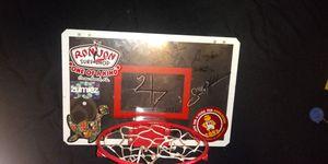 Spring loaded mini basketball hoop for back of door for Sale in Largo, FL