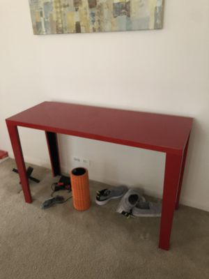 Console table , Red, Perfect for hallway for Sale in Chicago, IL