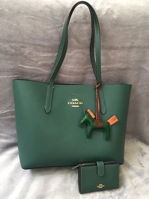 Green Coach tote bag set for Sale in Calverton, MD