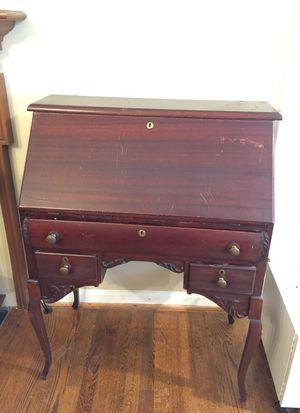 Antique study desk but no key for Sale in Herndon, VA