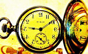 1909 ELGIN COIN SILVER HUNTER POCKET WATCH for Sale in Alameda, CA