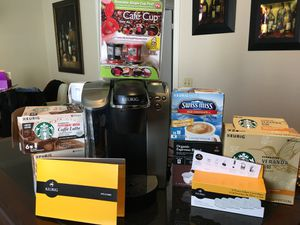 Keurig Coffee Maker With Coffee & Accessories Bundle Set for Sale in Irvine, CA